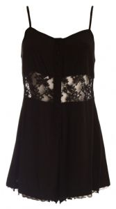 Ex Topshop Black Laced Floral Strappy Cami Summer Romper Playsuit | FD&K